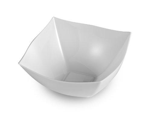 EMI Yoshi EMI-SB8W 8-Ounce Square Plastic Bowl Mini White 48 Per Case