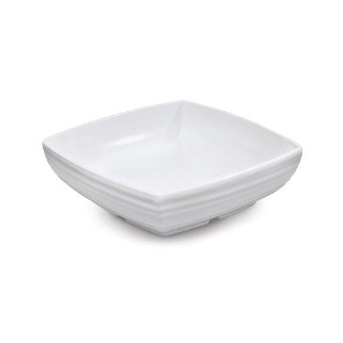 GET ML-67-W Milano 25 Quart White Square Bowl