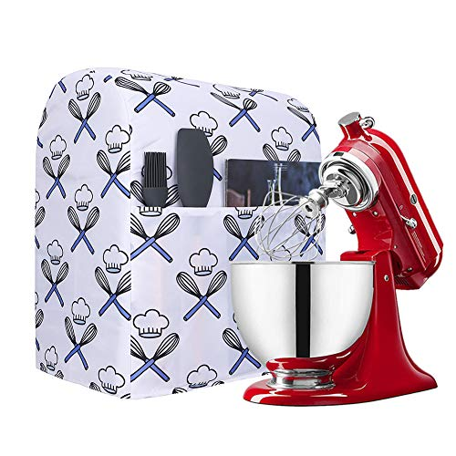 Kitchen Aid Mixer Dust CoverStand Mixer Small Appliances Cover with PocketsCompatible with All Tilt Head&Bowl Lift 5-8 Quart Kitchen Aid Mixers for Kitchenaid MixersHamilton Mixers Y01