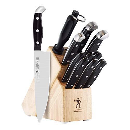JA HENCKELS INTERNATIONAL 35309-000 Statement Knife Block Set 12-pc Light Brown