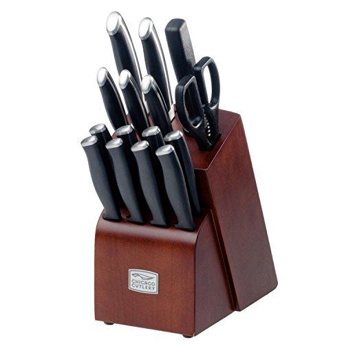 Premium Chicago Cutlery 16 Piece Belmont Stainless Steel Knives Block Set