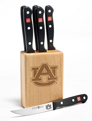 Gourmet 7 Pc Auburn Steak Knife Block Set - Clearance