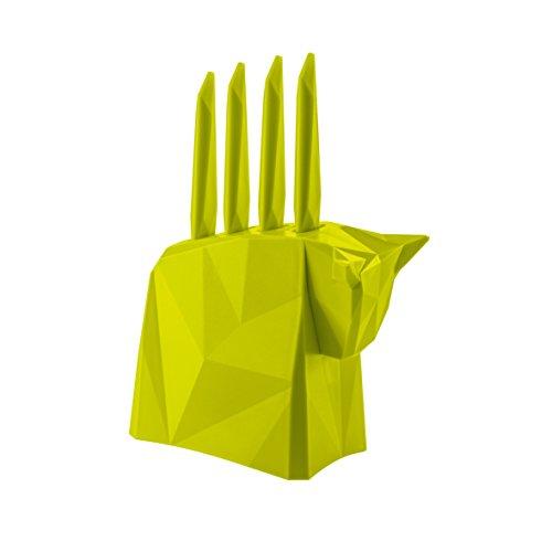 Pablo Steak Knife Block Set Set of 4 Color Green