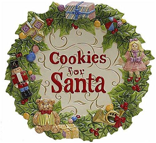 Kaldun and Bogle 104608 Toyland Christmas Cookies for Santa Plate Multicolored