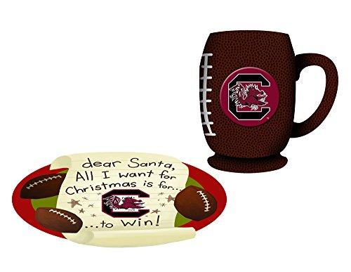 South Carolina Gamecocks Cookies For Santa Plate and Mug Set