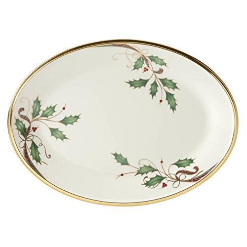 Lenox Holiday Nouveau Gold Oval Platter