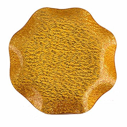 LOSTRYY Plastic tray fruit plate atmospheric dry fruit pots simple atmosphere large gold fruit pots 235CM