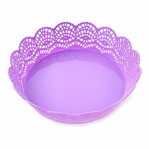 LOSTRYY Plastic tray fruit plate atmospheric dry fruit pots simple atmosphere large round large fruit pots purple