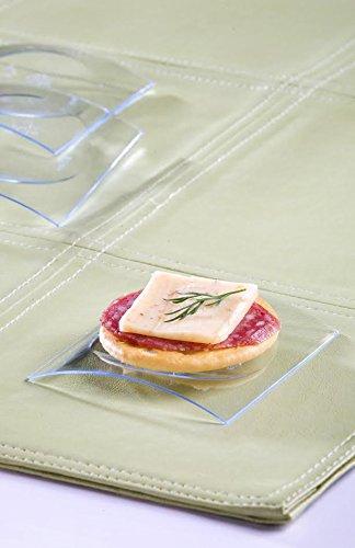 Zappy 100 Disposable Plastic Mini Clear Square Dessert Plates Small Mini Appetizer Plates Sushi Cupcake Pie Plates Mini Sushi Trays  Clear