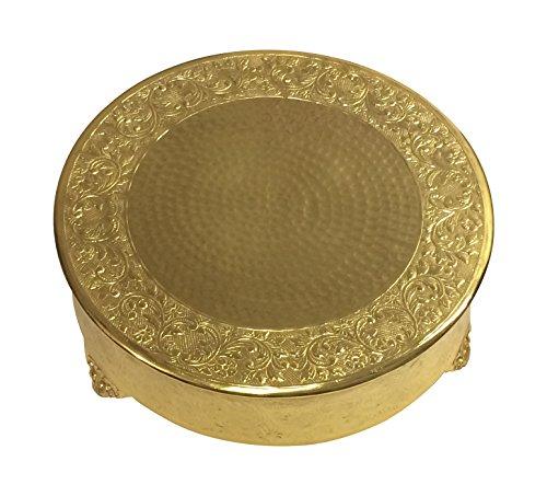 GiftBay Creations Gold Wedding Cake Stand Round 18 Aluminum Metal