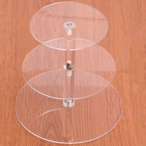 Enerhu Acrylic Round Cupcake Stand Dessert Tower Transparent Cake Cupcake Display Stand S 3 tiers
