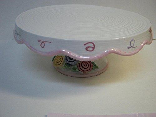 AVON 2005 PRESIDENTS CLUB BIRTHDAY GIFT COLLECTION CELEBRATION PEDESTAL CAKE PLATE
