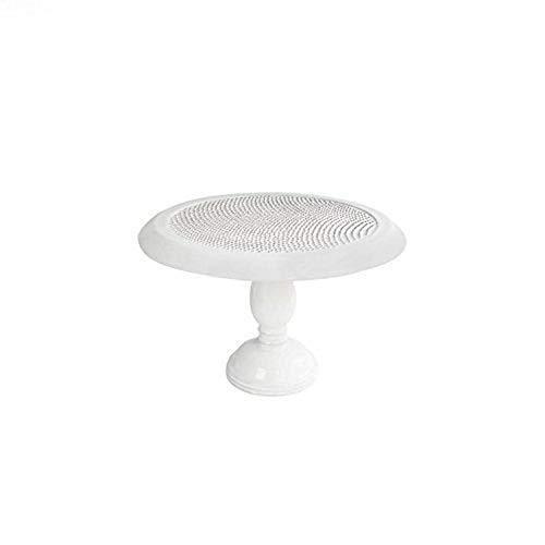 American Atelier 1562128 Bianca Dots Round Pedestal Cake Plate White