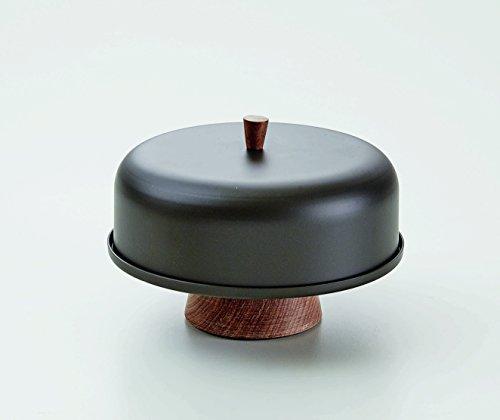NDTdesign Serveware Aluminum Cake Stand with Dome 830in diameter Modern Grey