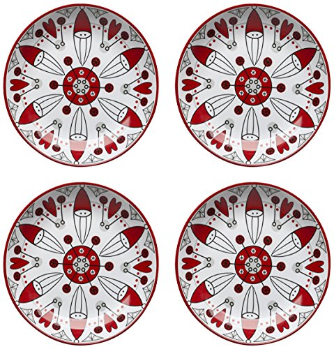 Sagaform 5016322 4-Pack Santa Side Plates