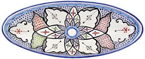 Le Souk Ceramique TIB12 Stoneware Extra Large Oval Platter Tibarine
