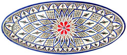 Le Souk Ceramique TK12 Stoneware Extra Large Oval Platter Tabarka