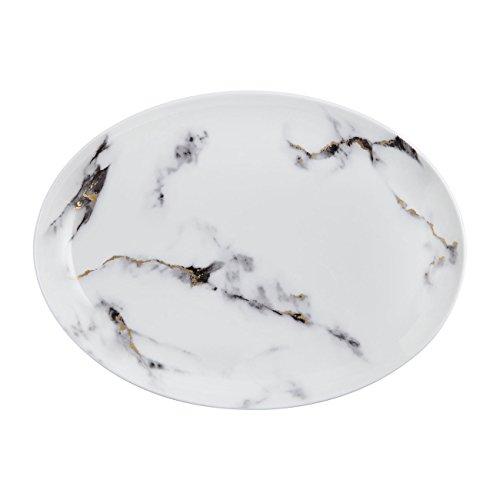 Prouna Marble Venice Fog Large Oval Platter
