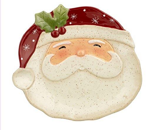 Grasslands Road Tidbit Santa Christmas Plate