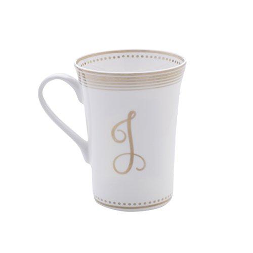 Mikasa Bone China Coffee Mug 16-Ounce Monogram J