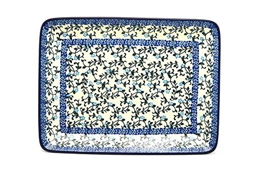 Polish Pottery Platter - Rectangular - Terrace Vines