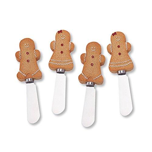 Wine Things Gingerbread Man Resin Cheese Spreaders Set of 4