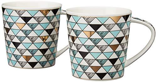 Love Home Porcelain Mug Set - 16 Ounce for Coffee Latte Cappuccino Tea Hot Cocoa  Bistro Style Large Mugs