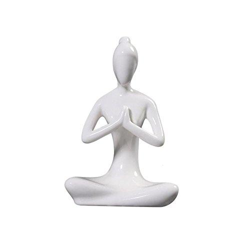 Toonol Abstract Art Ceramic Yoga Poses Figurine Porcelain Yoga Lady Statue Different Poses Home Yoga Studio Decor Ornament2