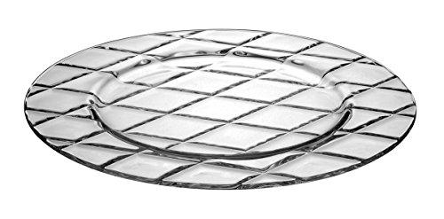 Barski - European Glass - Dinner - Plate - Artistically Designed - 11  Diameter - Set of 6 - Made in Europe