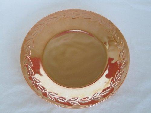 Vintage 1950s-60s Fire-King  Laurel  Peach Lustre Glass Dinner Plate 9