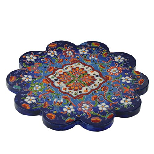 Nimet Classical Turkish Porcelain Trivet 18cm by Paykoc N50007 Blue
