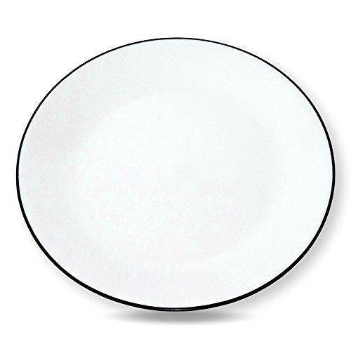 Corelle Livingware Brilliant Black 1025 Dinner Plates - Set of 4 1025