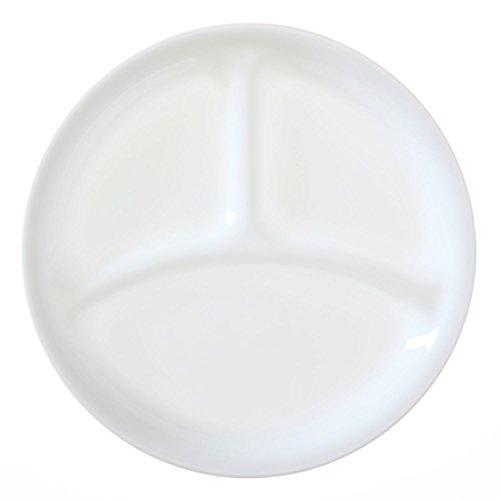 "Corelle Livingware Winter Frost White 85"" Divided Lunch Plate Set of 8"