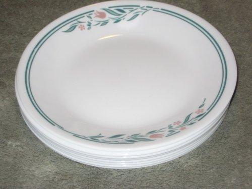 SET OF 8 - Vintage Corning Corelle Rosemarie Tulip Pattern 6 12 Inch Bread  Desert Plates