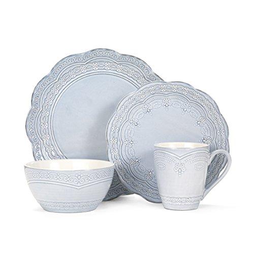 Pfaltzgraff Seraphina 16-Piece Stoneware Dinnerware Set Service for 4