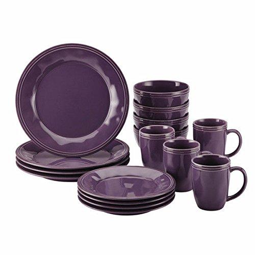 Rachael Ray Cucina Dinnerware 16-piece Stoneware Dinnerware Set 1 Purple