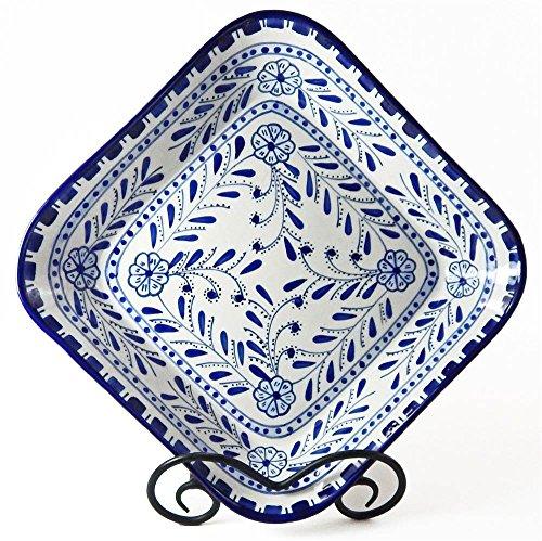 Le Souk Ceramique AZ08 Stoneware Square Serving Bowl Azoura