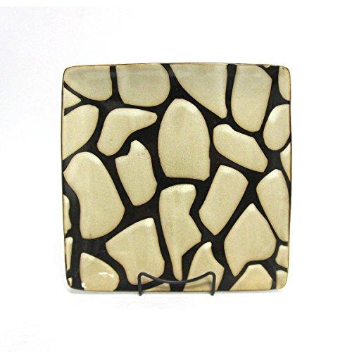 Wildlife Safari Giraffe Print Square Stoneware Dinner Plate