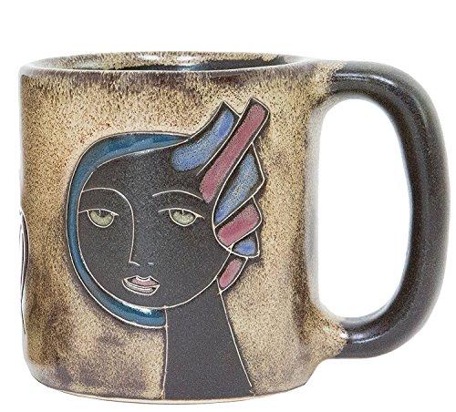 One 1 MARA STONEWARE COLLECTION - 16 Oz Coffee Cup Collectible Dinner Mug - Zodiac Sign - Virgo The Virgin Design