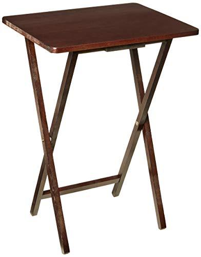 PJ Wood Folding TV Tray Snack Table - Espresso
