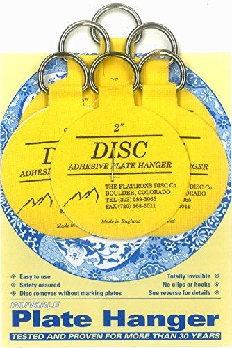 Flatirons Disc Adhesive Plate Hanger Set 6 - 2 Inch Hangers