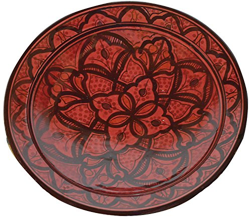 Ceramic Plates Moroccan Handmade Serving Wall Hanging Exquisite Colors Decorative Large 12 inches Diameter