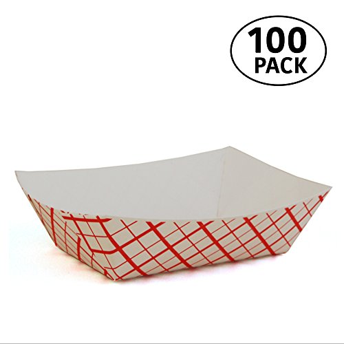 1 lb Paperboard food trays for French Fries Hot Dogs Carnival Arts and Crafts 100 Pack