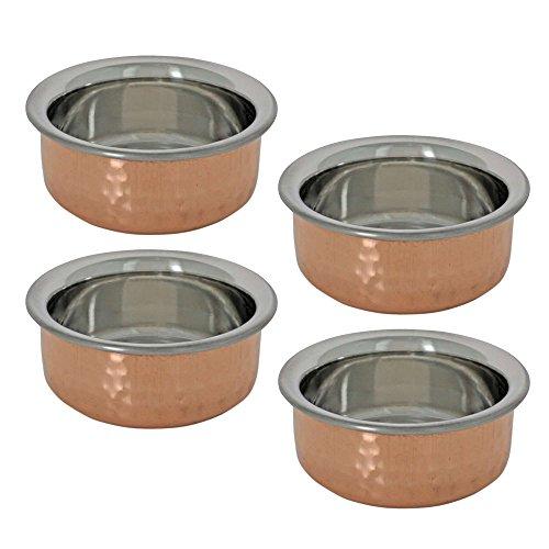 Tableware Dinnerware Set of 4 Serving Bowls Utensils Indian