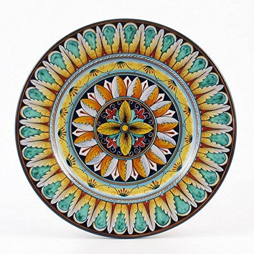 Hand Painted Italian Ceramic 11-inch Dinner Plate Vario F1 - Handmade in Deruta