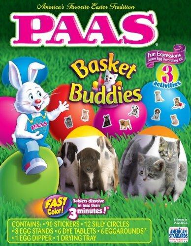 PAAS Basket Buddies Dog Cat Easter Egg Decorating Kit