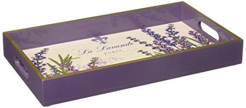 Paperproducts Design Wooden Vanity Tray Displaying La Lavande Design 1225 x 7 x 15 Purple