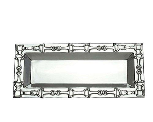 Arthur Court Designs Aluminum 185 x 7 Equestrian Oblong Tray