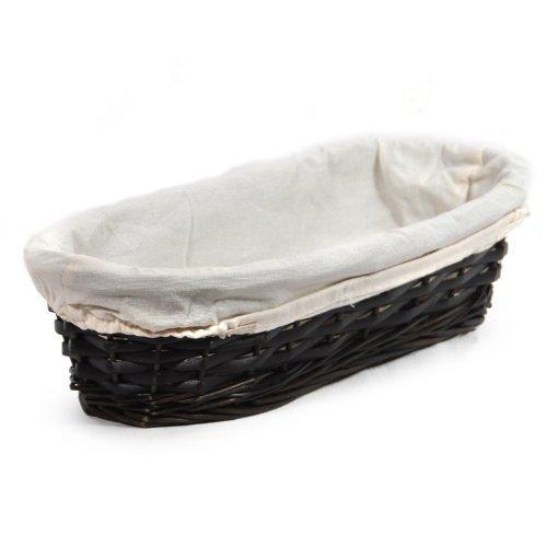 The Lucky Clover Trading Savannah Slim Oblong Tray with Cloth Liner Mahogany