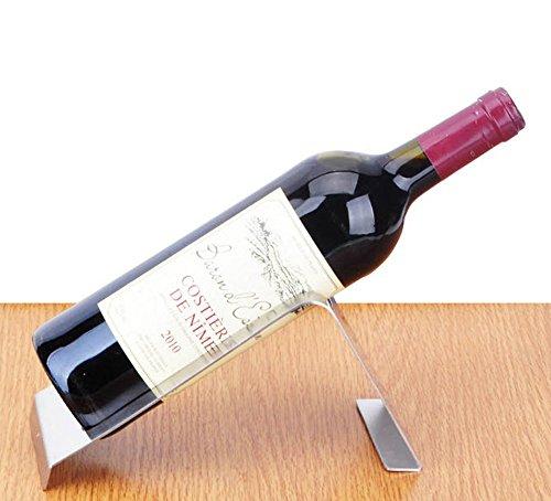 CdyBox Stainless Steel Wine Rack Single Wine Bottle Holder Rack Display